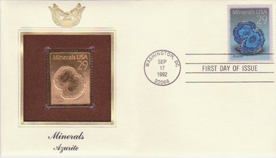 Azurite - United States - 1992 - First Day Cover -- 02/10/08