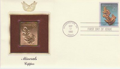 Copper - United States - 1992 - First Day Cover -- 02/10/08