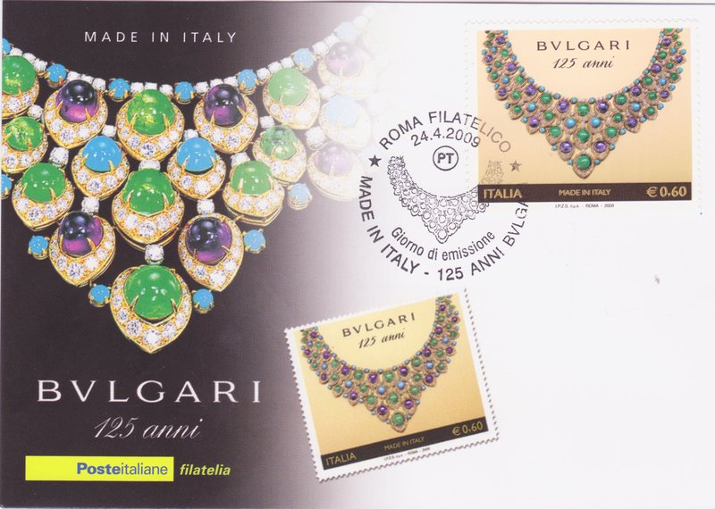 Bulgari Diamons, Amethysts, Emeralds, Turquoises, gold and platinum necklace