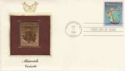 Variscite - United States - 1992 - First Day Cover -- 02/10/08