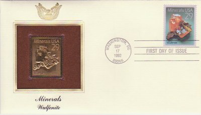 Wulfenite - United States - 1992 - First Day Cover -- 02/10/08